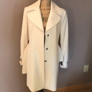 🌹Winter White Via Spiga Wool coat NWOT